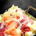 料理メニュー写真阿波鶏とホルモン 特製ピリ辛しょうゆタレ(一人前)