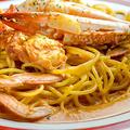 料理メニュー写真カニのトマトクリームスパゲッティ(トマトクリーム)