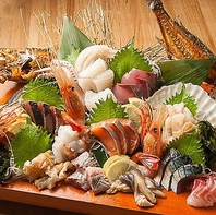 北海道の漁師直送!鮮魚も自慢のひとつ!