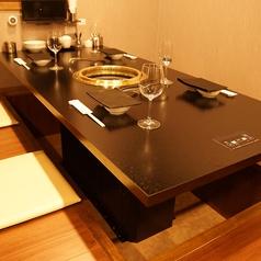 記念日利用やデートにおすすめ☆プライベート感を重視した個室は全てが掘りごたつのお座敷。
