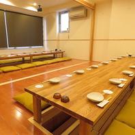 別空間の2階宴会場も完備。