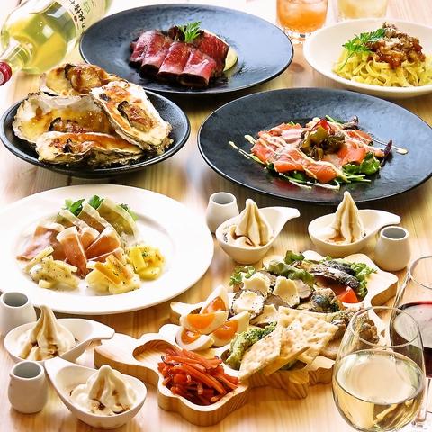 【女子会コース】人気なチーズメニュー、デザート付き♪お料理7品+2時間飲み放題 4000円