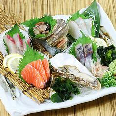 料理メニュー写真朝獲れ鮮魚の盛合わせ