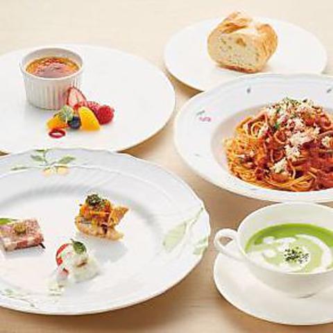 ◇ランチコース◇自慢の前菜やスープ、パスタ、デザートなど6品「パスタランチコース」1980円