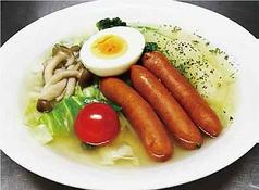 5種類の野菜と粗挽きソーセージの和風ポトフ