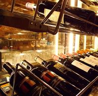 【ワインの種類豊富!】常時80種類以上をご用意!