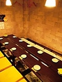 隠れ個室で一番人気のお部屋です。床がガラス張りになっており、雰囲気抜群です。9名様よりご利用いただけます。