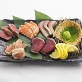 料理メニュー写真藁焼き5種盛り