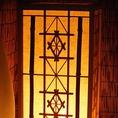 和の趣を感じる灯りが・・・
