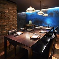 接待・ご会食などの大切な方とのお食事に最適な完全個室。完全に区切られているので周りを気にせずお食事が楽しめます。