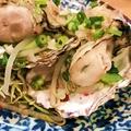 料理メニュー写真ふっくら蒸し牡蠣の香り醤油かけ