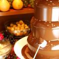 お子様や、女性に大人気!マシュマロやシュークリーム・フルーツをチョコでコーティング★みんなでワイワイしながらお楽しみください