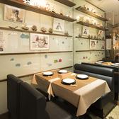 1Fの半個室テーブル席!こだわりのインテリアに囲まれたお洒落な空間は、ランチ・ママ会・女子会・デートに最適♪