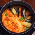 料理メニュー写真魚介とトマトのカルドッソ