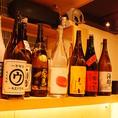 お肉との相性◎の焼酎や日本酒も豊富に取り揃えております。