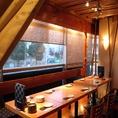 こちらの「集いの間」は14名様までご利用可能な個室となります。会社宴会に◎