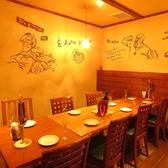 【8名様個室】周りに気兼ねなく食事や会話を楽しめます☆