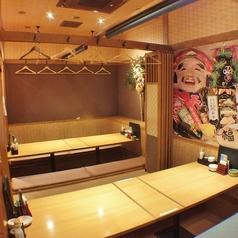 掘り炬燵式の宴会個室は10名、20名、30名、40名と人数に合わせて仕切れるので、中人数~大人数のご宴会までお任せください♪