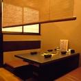【テーブル席】 簾を下した半個室タイプのテーブル席です。