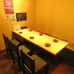 【テーブル席】テーブル式個室風なお席は6名~9名でご利用いただけます!