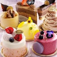 本格的なケーキ各種ご用意しております♪