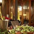 厳選ワインをソムリエがご提供させていただきます。フレンチ料理とワインのマリアージュを心ゆくまでご堪能いただけます。