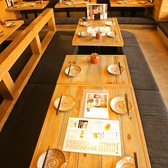 少人数でのお食事も、大人気の掘りごたつ席で楽しめる♪お子様連れも大歓迎!!ご家族でもゆったりお食事が可能です♪