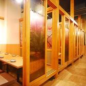 2階に上がると日本の自然に彩られた個室が並びます。