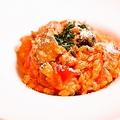 料理メニュー写真マグロと季節野菜のトマトリゾット