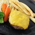 料理メニュー写真神戸牛入り粗挽きチーズハンバーグ  150g