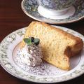 料理メニュー写真シフォンケーキ セット