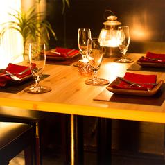 2名様~ご利用可能な個室も完備!デートや女子会などにもぴったり◎インテリアにこだわったオシャレな空間でごゆっくりとお食事をお楽しみ下さい。