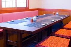 気軽にお食事出来ます。繋げれると合計10人までの個室になります。