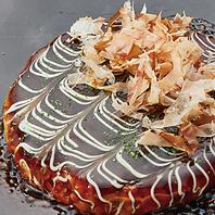 梅田で味わえる本格豚のお好み焼き!