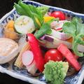 料理メニュー写真カラフル野菜のディップ