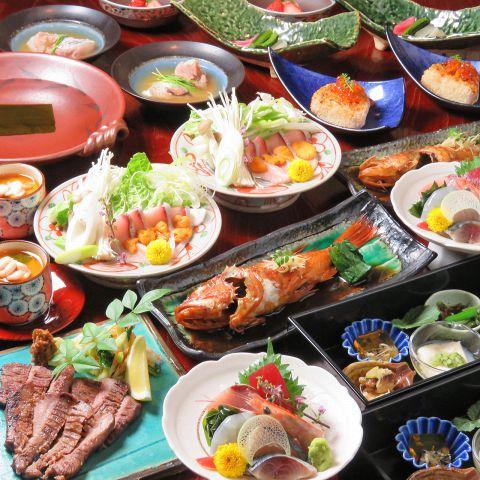 一番人気【小林コース】お一人様一皿づつにて。充実内容!料理全10品[飲放2.5h付]8000円(税込)