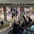 川崎駅改札を出て右側エスカレーターを下へ