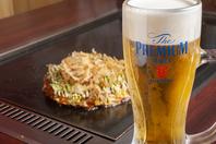 飲み放題ではビールも注文可能となっております♪
