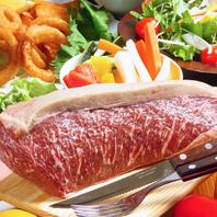 厳選部位を熟成し、旨味を十分に引き出す塊ステーキ