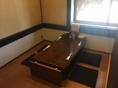 個室なので、ゆっくりしながらお食事ができます。
