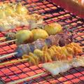 料理メニュー写真鶏ささみ串(梅)/鶏せせり串