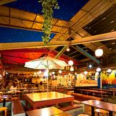貸切200名様までOK 雨でも可動式の屋根があるので大丈夫!リゾート風の店内は幅広い方に大人気☆開放感のあるスペースでビアガーデンを満喫♪大人気のシュラスコビアガーデンです!