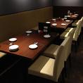 最大18名様まで可能なテーブル席。宴会にも人気のあるお席です!