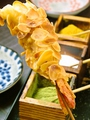料理メニュー写真海老・イカエリンギ・白身魚・トマト・椎茸
