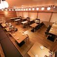 デートや会社宴会、ちょっとした飲み会にも最適なテーブル席もご用意♪☆もちろんプライベートシーンにも対応しております♪宴会最大60名様まで!!