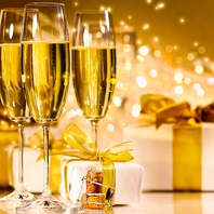 ■スパークリングワインで乾杯♪ボトルプレゼントもOK!!