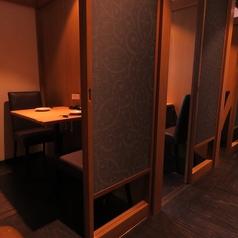 全席完全個室なので、少人数から人数に合わせて対応可能