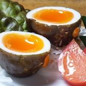 地鶏卵のわら焼き