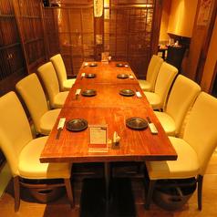 会社宴会・飲み会・接待におすすめです。歓送迎会・普段の会社宴会にも◎8名様のテーブル席。【比内地鶏】からの逸品料理、【東北・宮城の地酒】も仲間達と楽しめます。さらに当店は仙台駅直結のエスパル仙台の地下1階にある好立地。終電も安心の良いことだらけでございます。