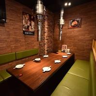 新橋で焼肉宴会♪4名様~16名様用の半個室部屋を完備!